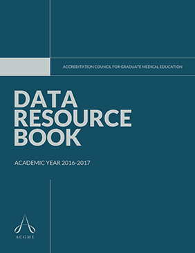 ACGME Data Resource Book<br /> 2016-2017